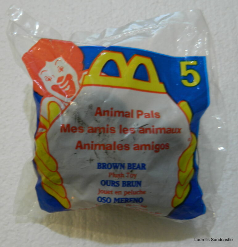 Brown Bear ~ #5 1997 Animal Pals McDonald's Toy ~ NEW & Sealed!