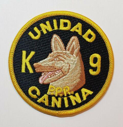 VINTAGE PUERTO RICO POLICE PATCH / K-9 / CANINE UNIT /  POLICIA PR