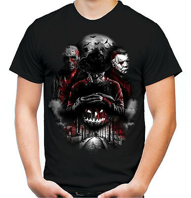 Nightmare Gang Tshirt | Halloween Horror Freddy Krüger Michael Myers Jason Film (Halloween Film T Shirts)