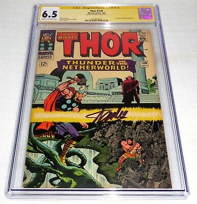 Thor #130 CGC SS 6.5 Signature Autograph STAN LEE Hercules & Pluto Appearance