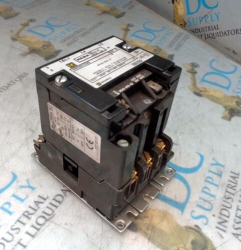 SQUARE D 8502SCO2S SER A SIZE 1 120 V 600 VAC 7.5 kW 10 HP CONTACTOR