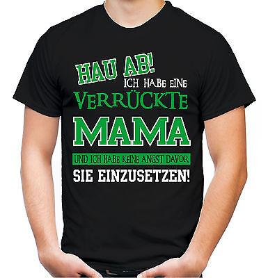 Verrückte Mama T-Shirt | Superheld Damen Frauen Sprüche Kostüm Muttertag