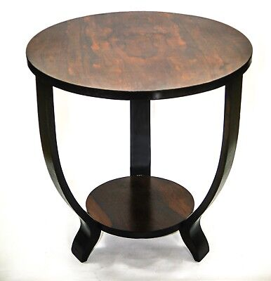 FRENCH ART DECO SIDE TABLE Maurice Dufrene Style Rosewood top Art Deco Rosewood Table
