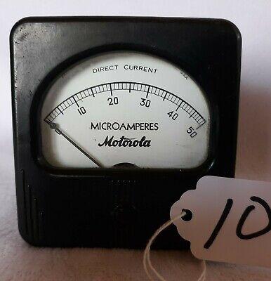 Vintage Motorola Dc Microamperes 0 - 50 Range Panel Mount Meter 10