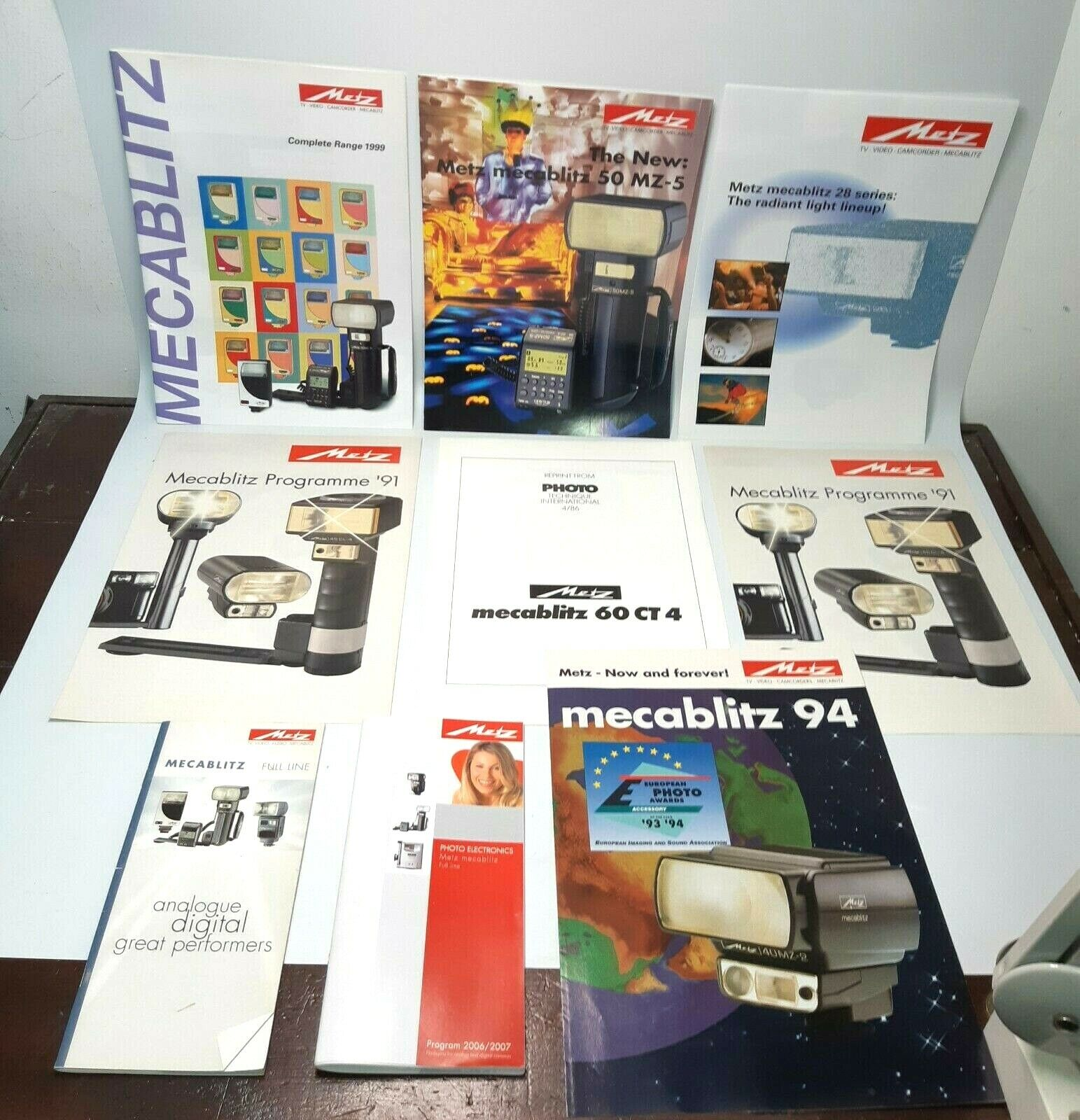 Metz 9x Catalogs Instruction Guides/English see lists –M3