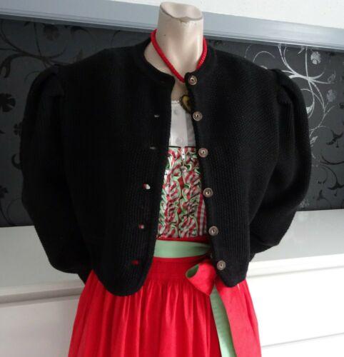 Authentic Black German Austrian  Dirndl Cardigan M