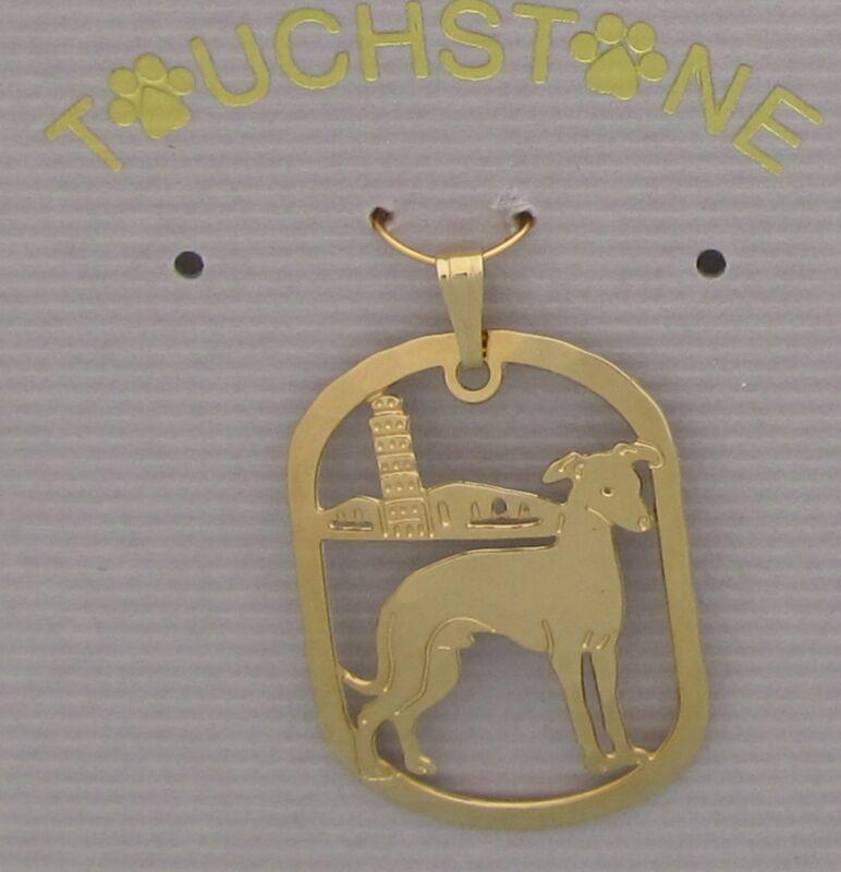 Italian Greyhound Jewelry Gold Pendant by Touchstone