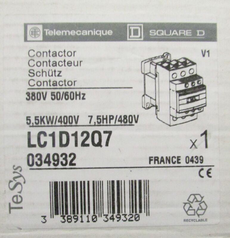 SQUARE D TELEMECANIQUE Contactor 380-480V LC1D12Q7