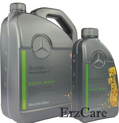 6L Original Mercedes Benz MB 229.51 5W-30 Motoröl 5W30 Vollsynthetisch Motorenöl