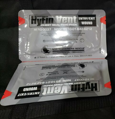 NAR HyFin Vented Chest Seal - Twin Pack