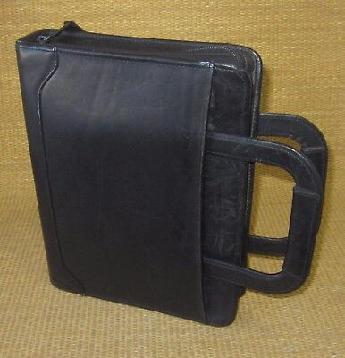 Classic 1.5 Rings Black Leather Franklin Coveyquest Plannerbinder Handles