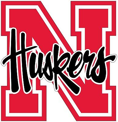 Home Decoration - Nebraska Cornhuskers Color Vinyl Decal Sticker -You Choose Size