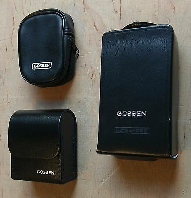 Drei Stück Gossen Taschen für Belichtungsmesser usw. - universell nutzbar