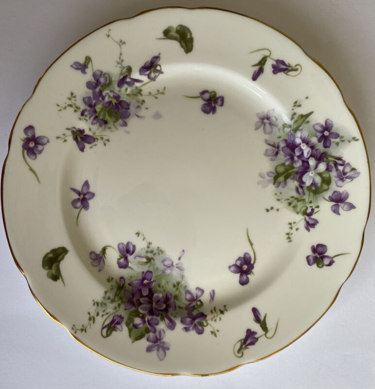 Hammersley Victorian Violets Countryside Salad Plate England Bone China New Cond
