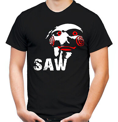 Jigsaw Männer T-Shirt | Halloween SAW Horror Kostüm Puppe Clown | M3 (Saw Puppe Kostüme)