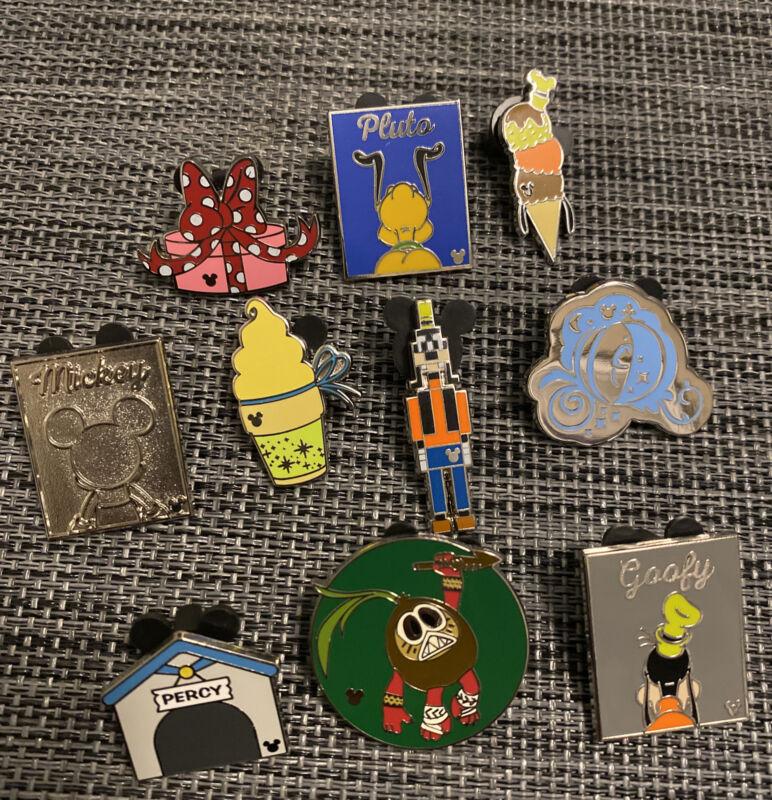 DLR HIDDEN MICKEY Disney Pin Trading Lot of 10 Pins No Doubles Lot145