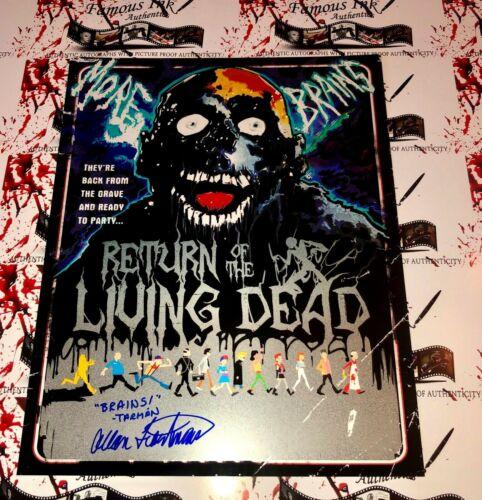 Allan Trautman Autographed Tarman Metallic 11x14 Photo Return Of The Living Dead