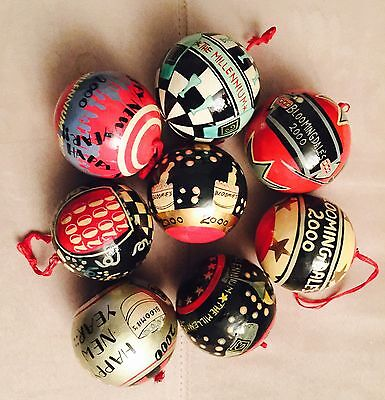 New Vintage Rare Collectible 8 Bloomingdale's Millenium 2000 Christmas Ornaments