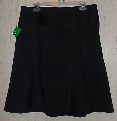 Womens United Colors Of Benetton Brown Pinstripe Skirt Size 46 (us16)