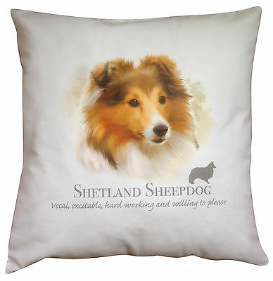 Shetland Sheepdog Dog | 100% Cotton Cushion Cover & Zip | Howard Robinson | Gift