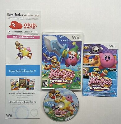Kirby's Return to Dream Land (Nintendo Wii, 2011) COMPLETE!!