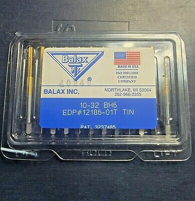 Balax New-open Box 10-32 Unf Bottom Thread Form Tap Tin 12 Taps