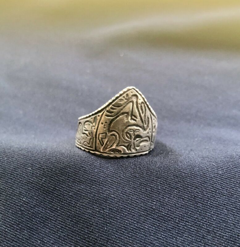 Early Medieval Anglo Saxon Silver Archer's Ring 11th Century Theodric Theodoric