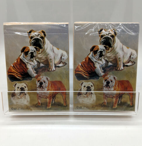 New English Bulldog Playing Cards - Set of 2 Decks - By Ruth Maystead Bulldogs