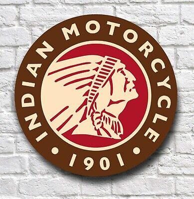 INDIAN MOTORCYCLE 2FT LARGE GARAGE SIGN PLAQUE MOTORBIKE VINTAGE SCOUT BOBBER