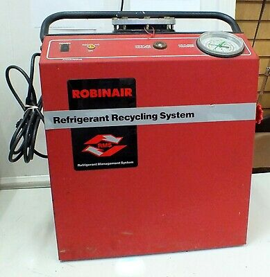 Robinair Refrigerant Recycling System Unit 17150a Equipment 115 Volt 1.9 Amp