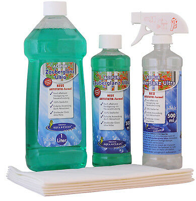 AQUA CLEAN PUR Zauberglanz Ultra Fensterreiniger 1,5l inkl. 5 Tücher (Fenster-reiniger Tücher)