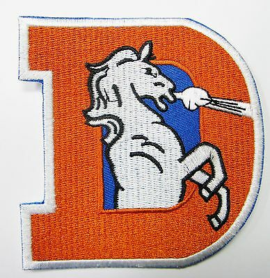 LOT OF (1) NFL DENVER BRONCOS BIG (D) EMBROIDERED PATCH IRON-ON (TYPE B)  # 21](Denver Nfl)