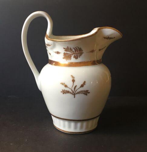Gilded Tucker Porcelain Pitcher
