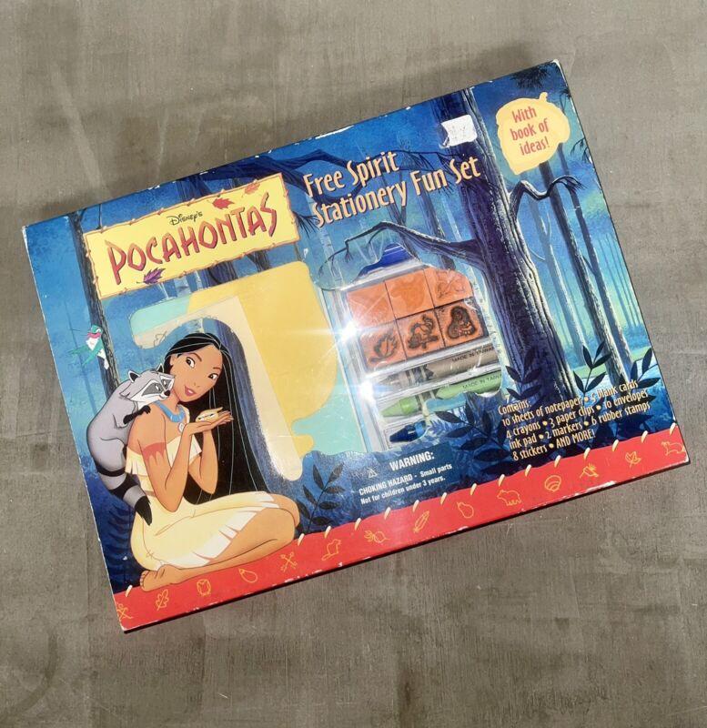 Vintage Disney Pochahontas Free Spirit Stationary Set Cards Stickers Stamps