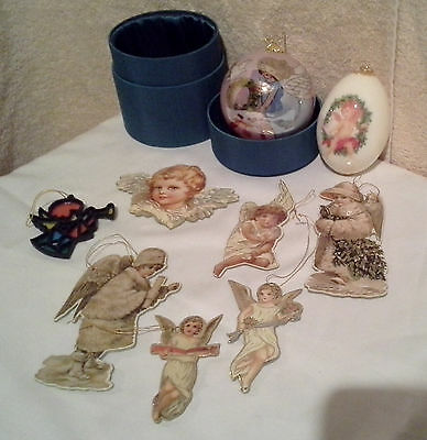 MISC LOT OF CHRISTMAS ANGEL ORNAMENTS VINTAGE - NOW