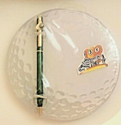 - New Golf Ball Pad and Green Pen New in Package Memo Pad Set SALE