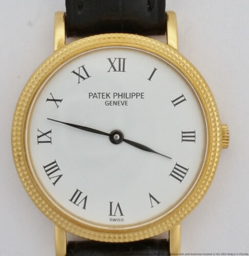 18k Gold Patek Philippe Calatrava Hobnail Bezel 4819 White Dial Ladie 25mm Watch - watch picture 1