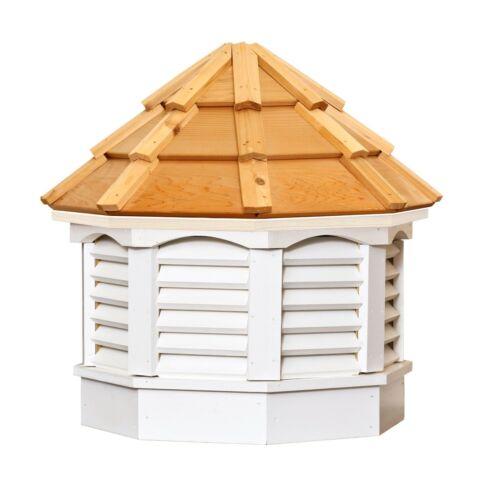 "21"" White-Painted Gazebo Cupola. Cedar roof"