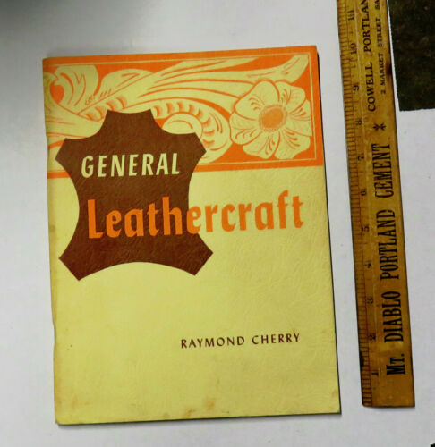 Vintage 1950s General Leathercraft Book Info    Designs How To Lots of Pictures