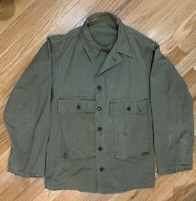 Vtg WW2 USN HBT N3 Jacket Herringbone Twill US Navy Deck Fatigue Utility
