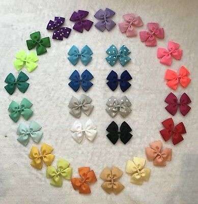 "56 Pcs DIY Craft Headband Party Decoration Multi-color 3.5""bows {No Clips }"