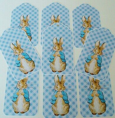 avor Gift Tags Glossy Finish - Baby Shower Christening  (Baby Shower Favor Tags)