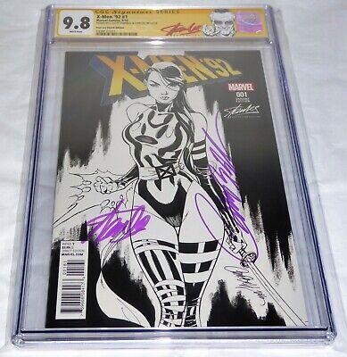 X-Men '92 #1 CGC SS Dual Signature Autograph STAN LEE Sketch Edition Comic 9.8