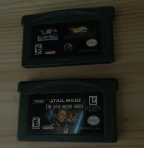Game Boy Advance Games - Star Wars and Hot Wheels