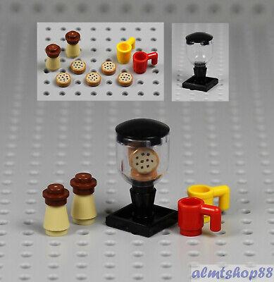LEGO - Cookie Jar Iced Coffee & Mugs Lot Minifigure Dessert Food Kitchen Friends