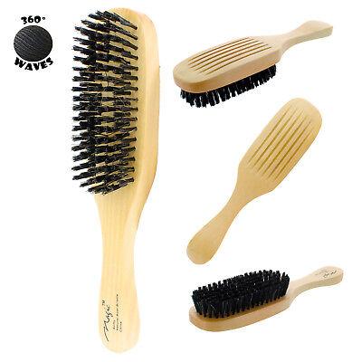 Reinforced Boar Bristle Soft Wave Brush Wood Handle Hair Men Magic No 7719 NEW Wood Boar Bristle Hair Brush