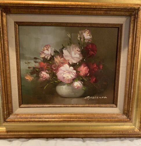 Beautiful Robert Cox Floral Painting - Framed - $58.00