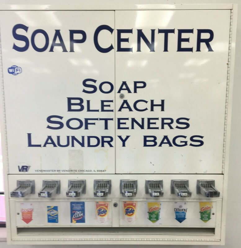 Soap Vending Machine-8 column, 184 box capacity, white, weighs approx. 200 lbs.