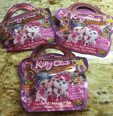 Kitty Club Foil Blind Bags Toy Figurine Collector Surprise Bags X3 Sealed (Blind Bags Toys)
