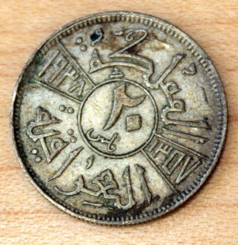 1938 Iraq 20 Fils Silver